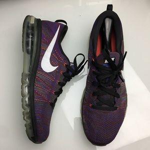 Nike Flyknit Airmax 2017 Purple Running Shoes 11